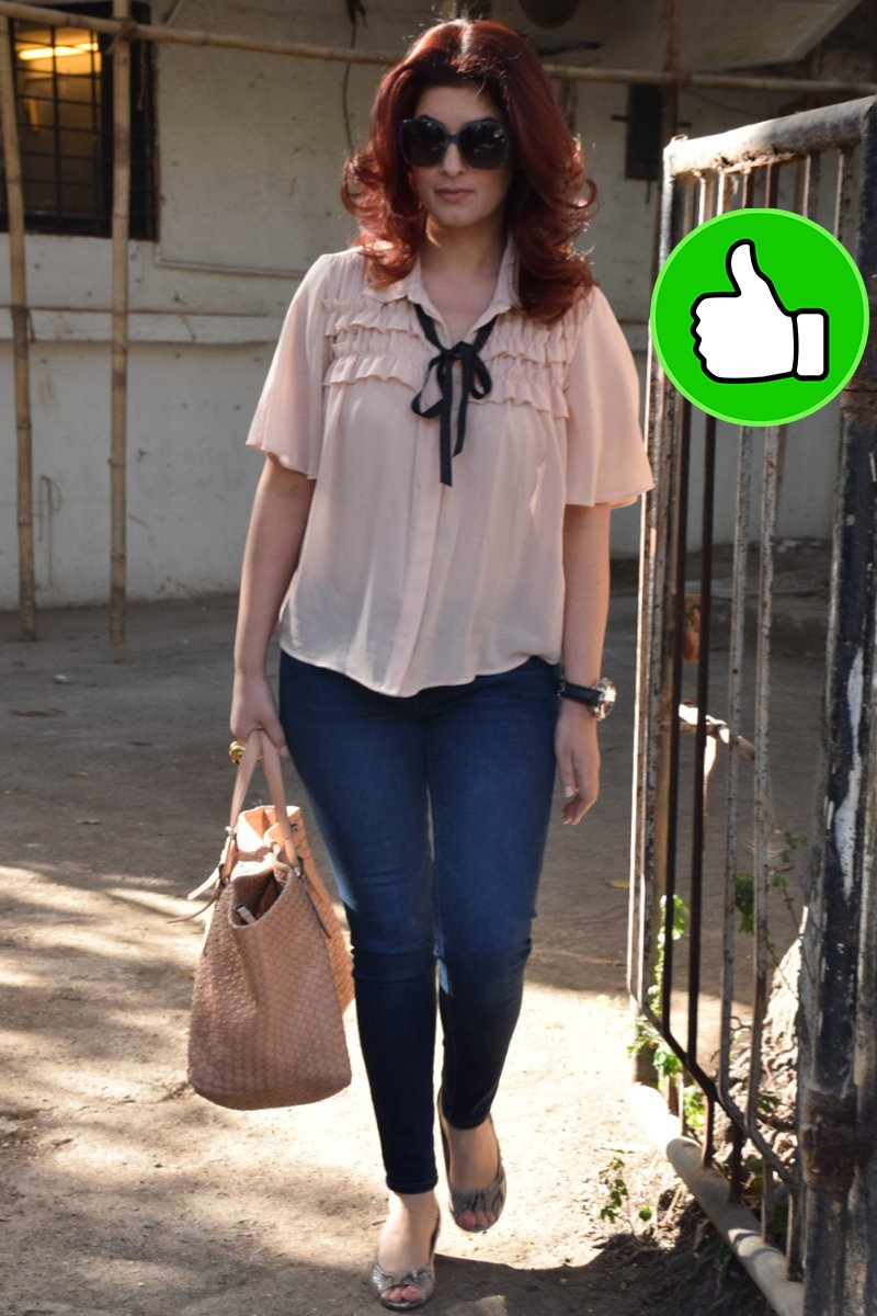 twinkle khanna snapped post salon session