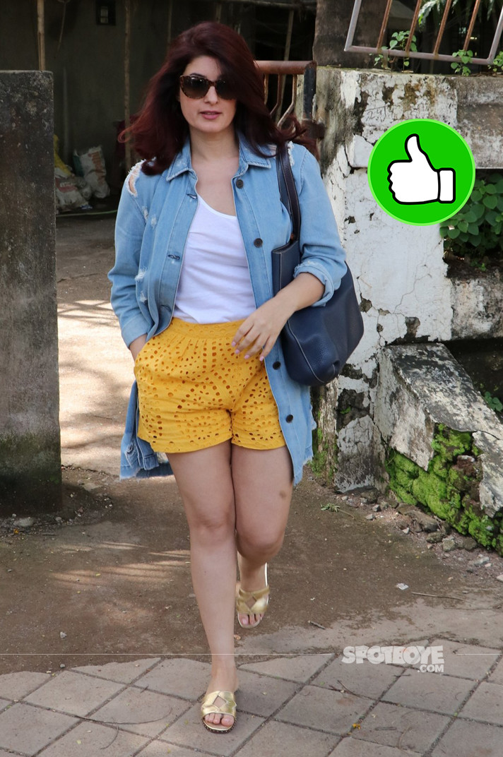 twinkle khanna spotted at salon
