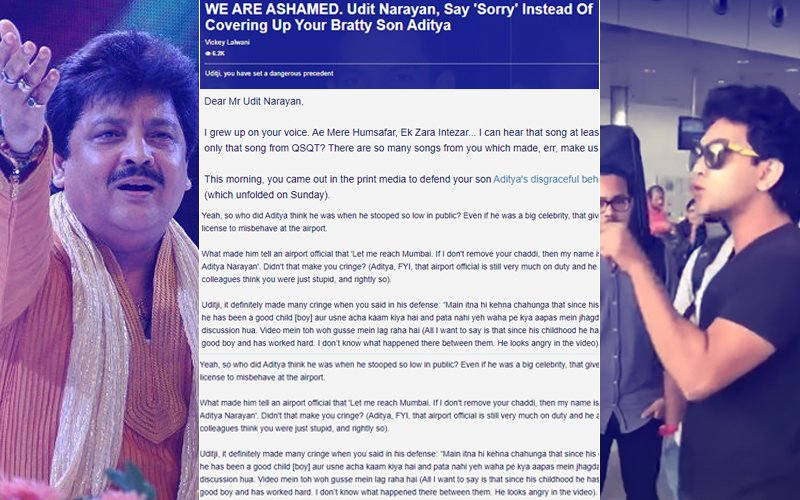 SPOTBOYE-FFECT: Sense Prevails, Udit Narayan Will Make Aditya Issue A Public Apology