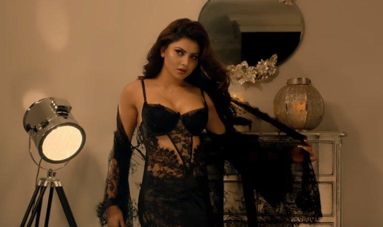 urvashi rautela looks hot in black