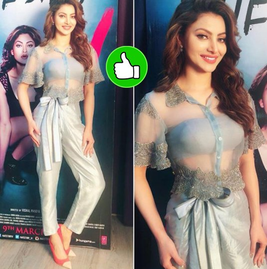 urvashi rautela poses for the shutterbugs