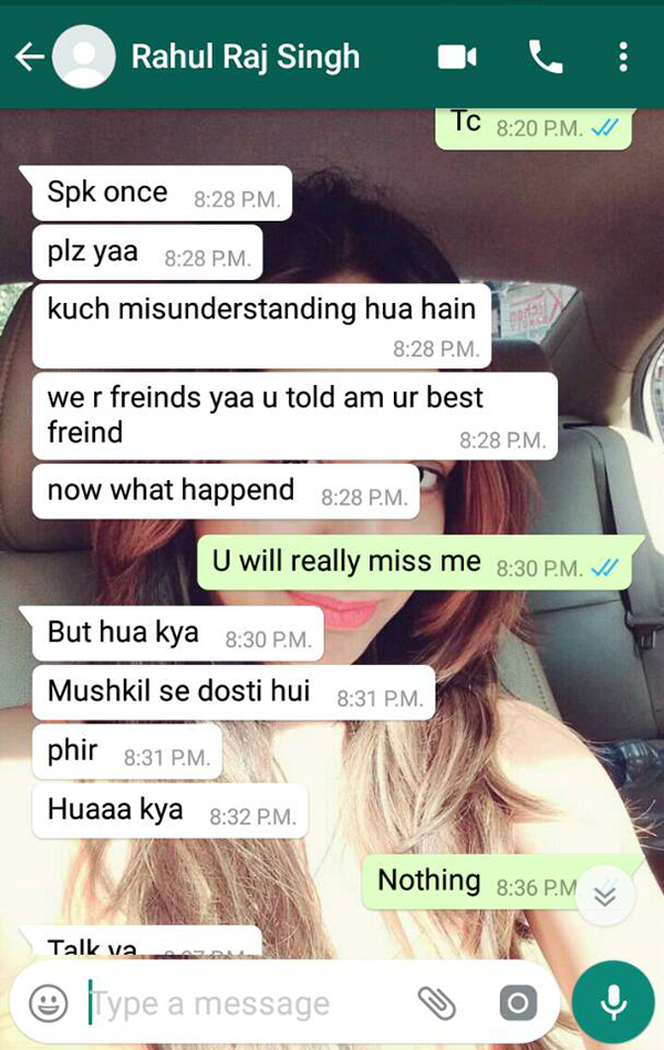 varsha bhagwani and rahul raj singh watsapp conversation 5
