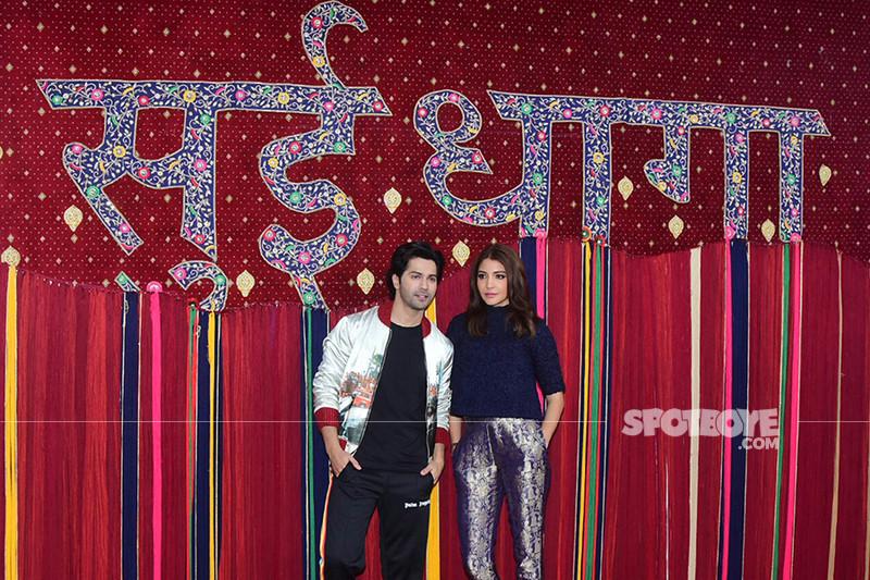 varun dhawan and anushka sharma at the launch of sui dhaga trailer