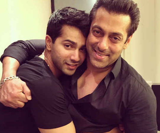varun dhawan with salman khan