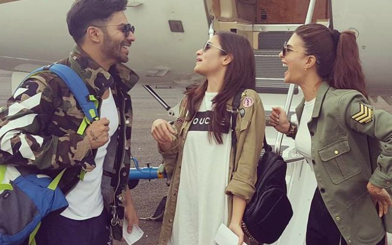 Look Who Joined Badrinath And His Dulhania In Guwahati For The ISL Opening!
