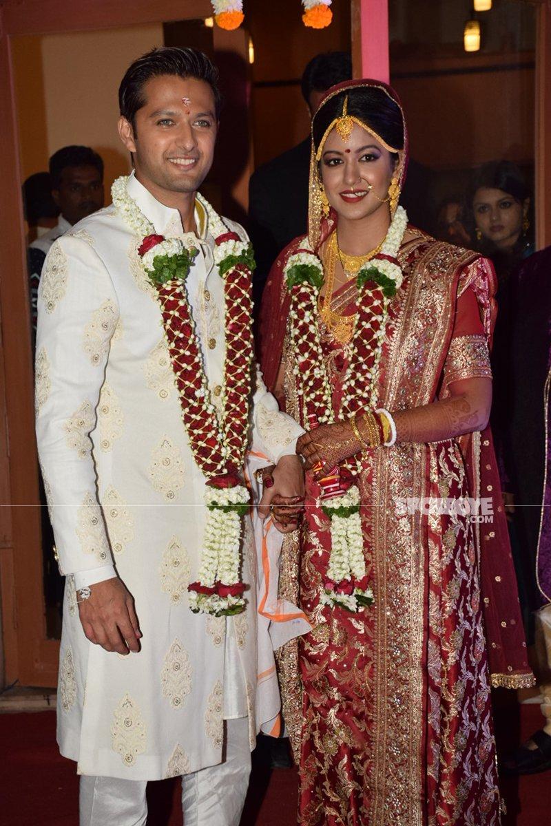 vatsal seth and ishita dutta marriage pics at iskon juhu