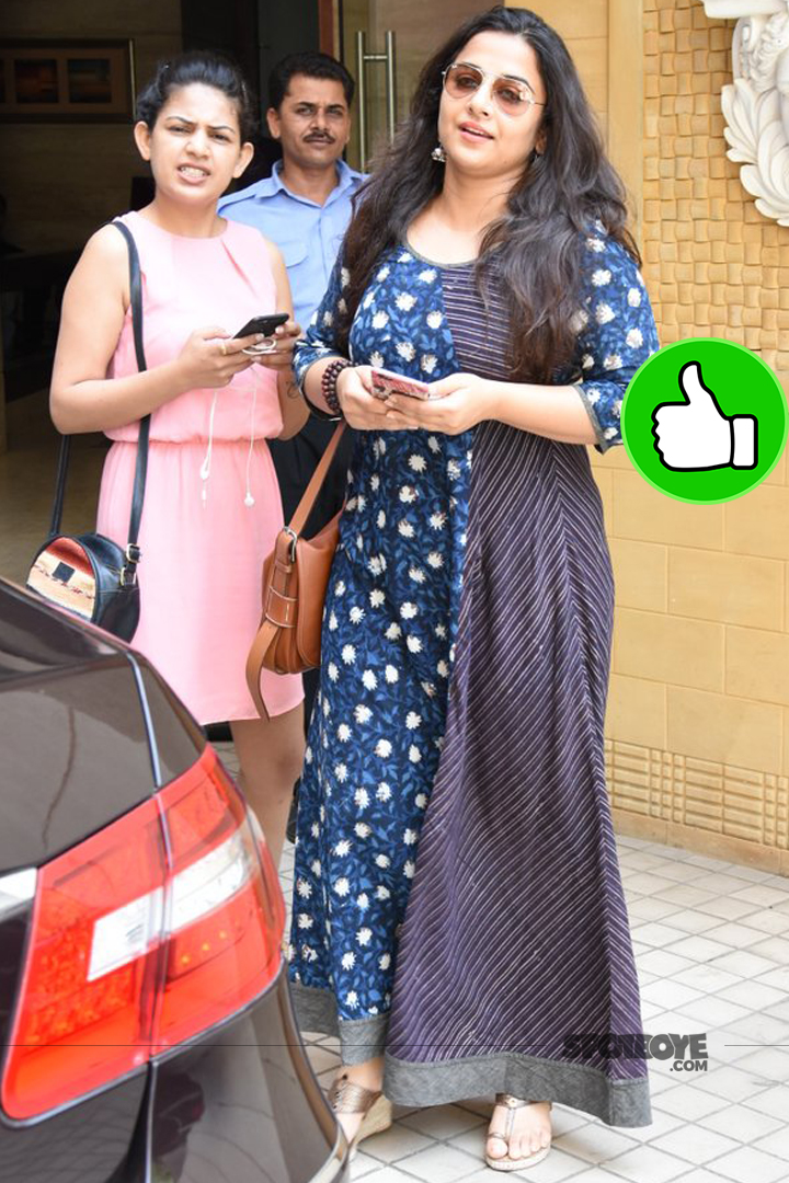 vidya balan snapped post dubbing session