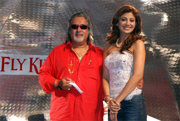 vijay mallya with shilpa shetty