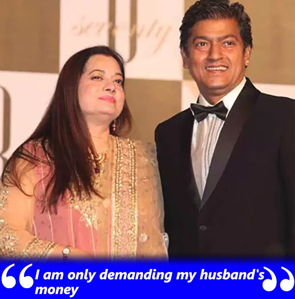 vijayta pandit claims for her husband aadesh shrivastavas money
