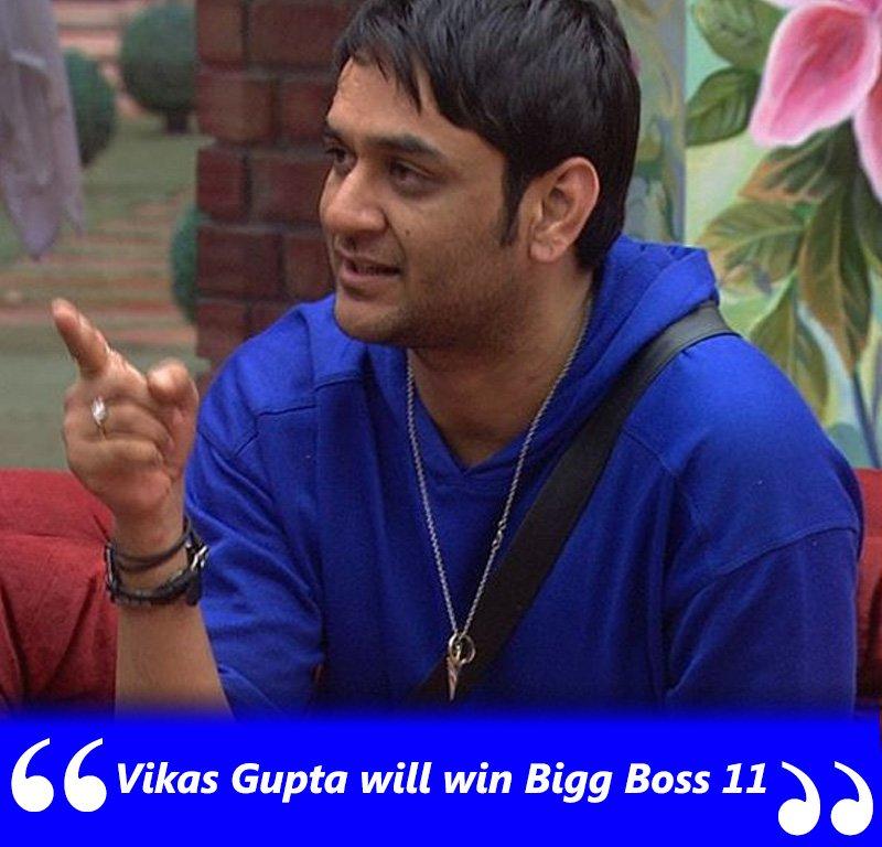 vikas gupta will win bigg boss 11