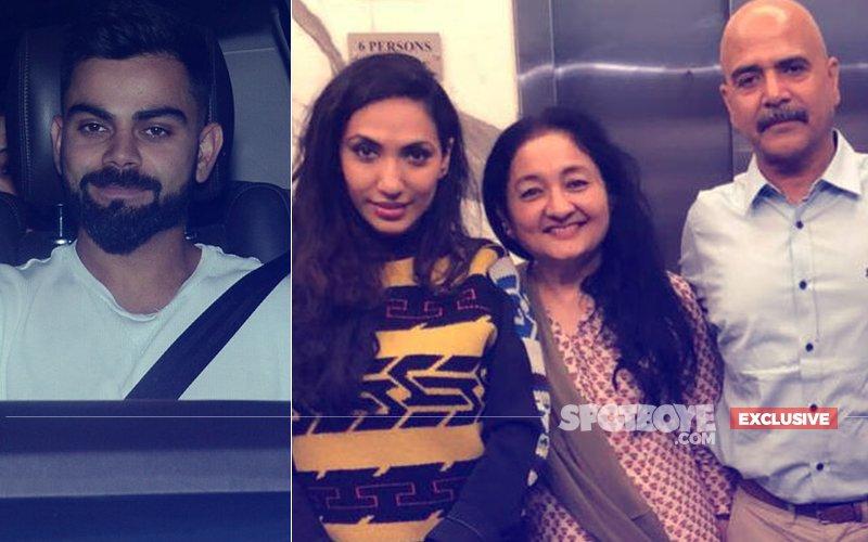 Virat Kohli Sees Anushka's Pari With In-Laws Ashima & Ajay Kumar And Producer Prernaa Arora