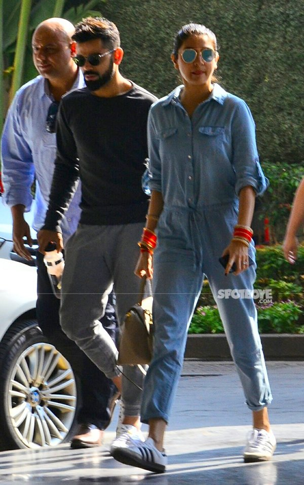 virat and anushka arrive at st regis for their reception