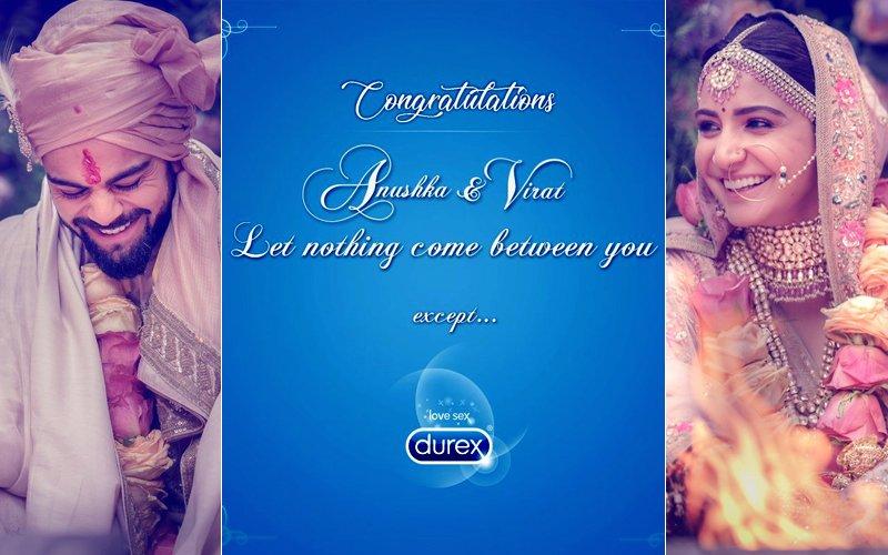 A Condom Company Has A Special Message For Virat Kohli & Anushka Sharma