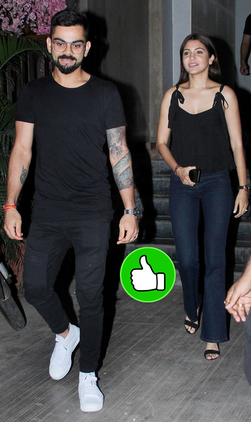 virat kohli and anushka sharma post having dinner