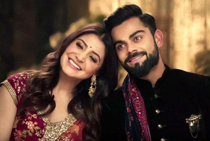 virat kohli and anushka sharma shoot for manyavar ad