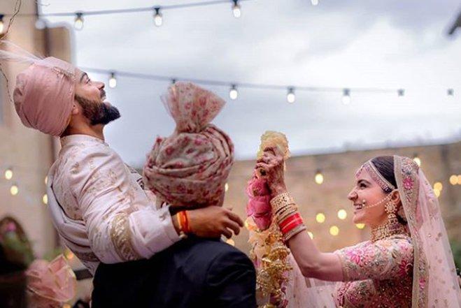 virat kohli and anushka sharma wedding pictures