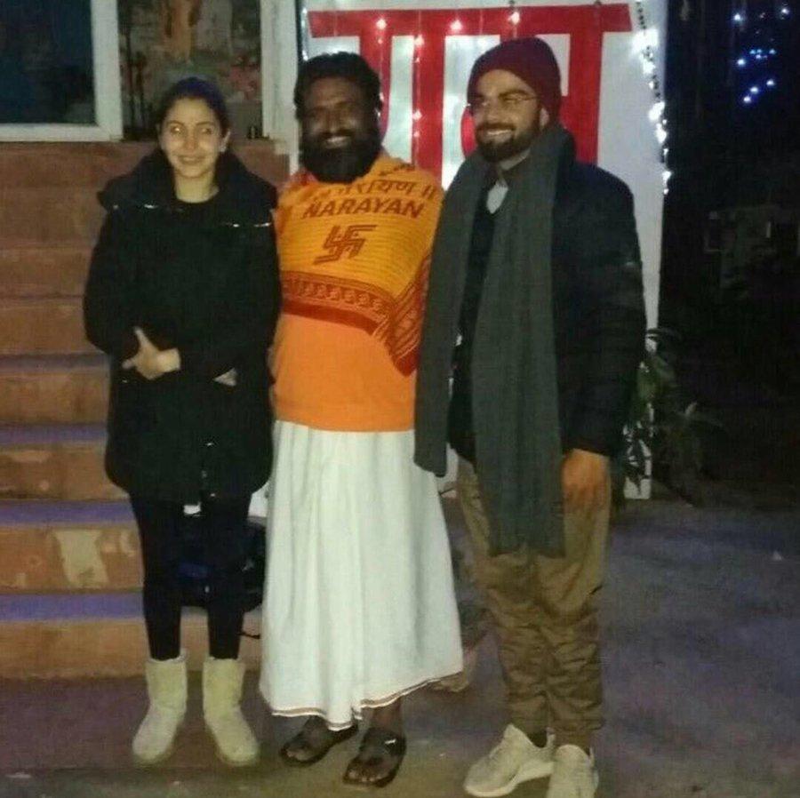 virat kohli anushka sharma and the guruji