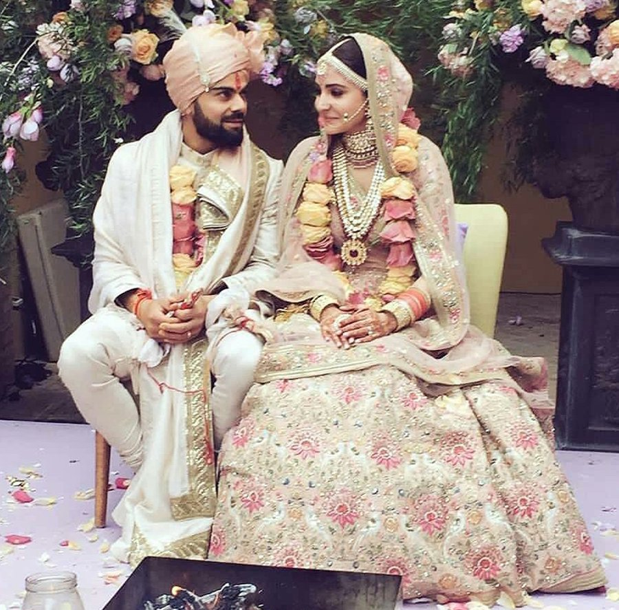 virat kohli anushka sharma wedding attire