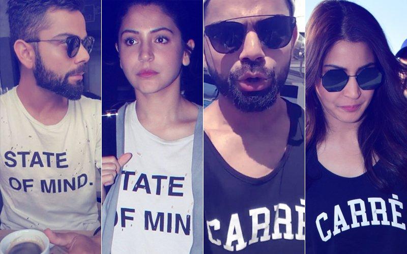 Same Pinch! Anushka Sharma & Virat Kohli Are Twinning & Winning In Similar Set Of Clothes