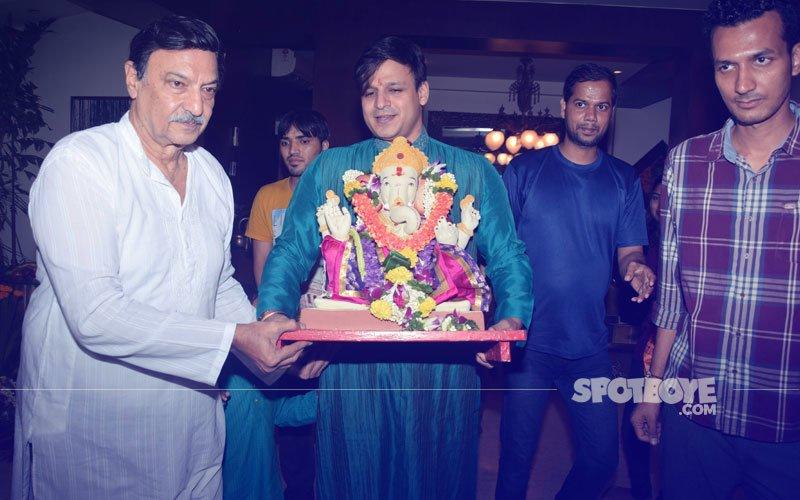 Vivek Oberoi & Co. Bid Goodbye To Lord Ganesha