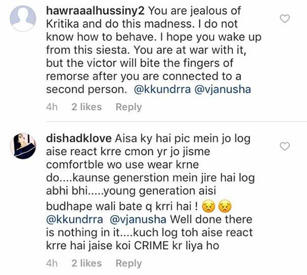 vj anusha slamed for her picture on social media