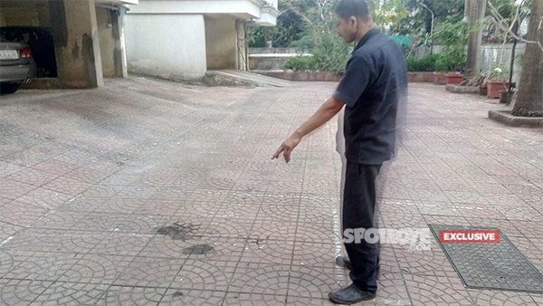 watchman tiwari showing the death spot to spotboye