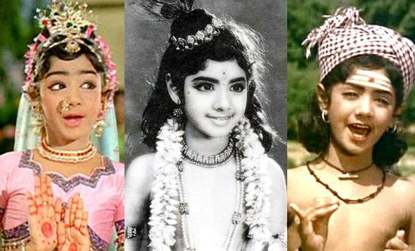 sridevi worked as child artiste