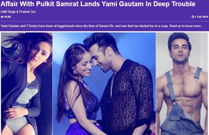 yami gautam s affair with pulkit samrat