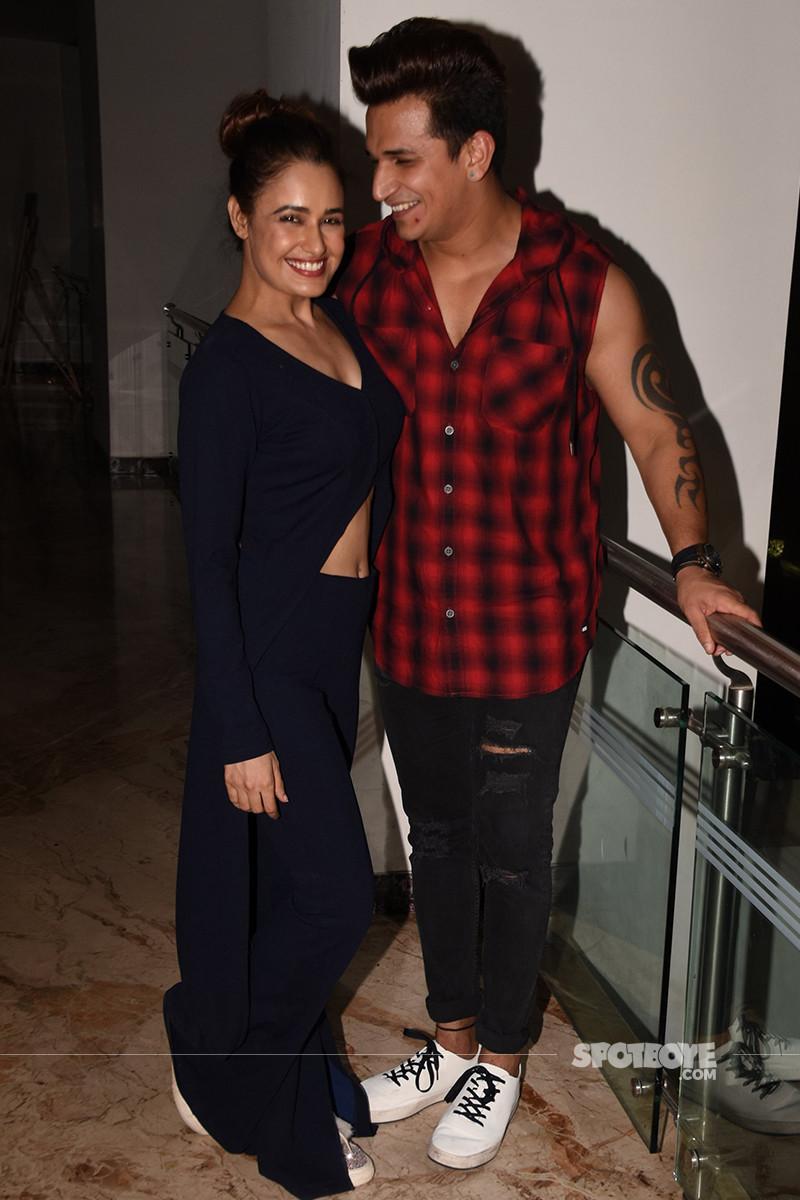 yuvika chaudhary and prince narula are all smiles