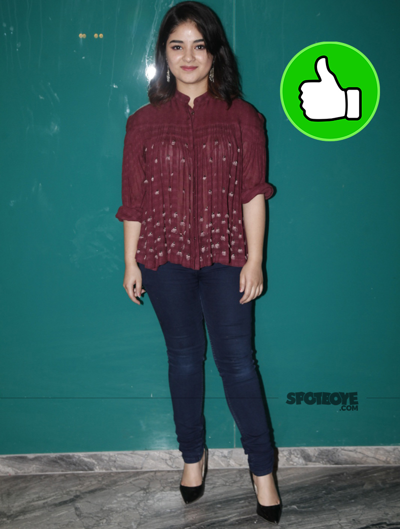 zaira wasim at the success party of her movie secret superstar