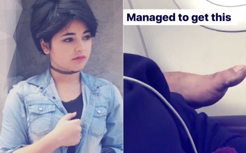 """""""His Foot Rubbed Against My Back & Neck,"""" Dangal Girl Zaira Wasim Molested On A Flight"""