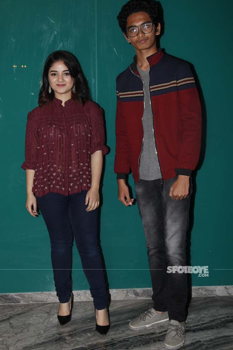 zaira wasim snapped with tirth sharma