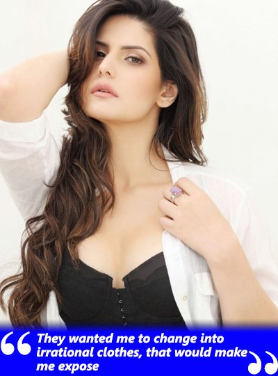 zareen khan looks hot in black