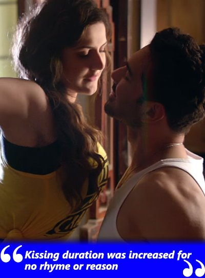 zareen khan on the kissing scenes