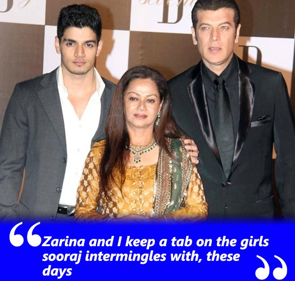 zarina and i keep a tab on the girls sooraj intermingles with these days