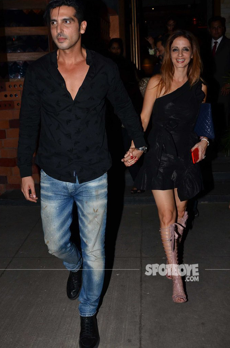 zayed khan snapped with birthday girl sussanne