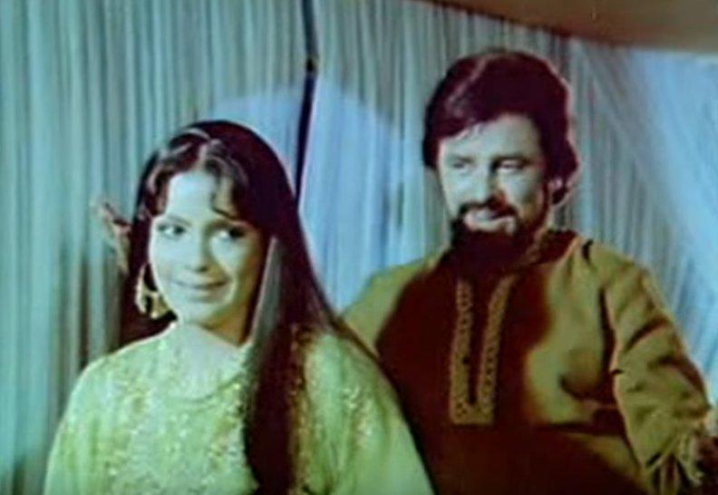 zeenat aman and sanjay khan in abdullah