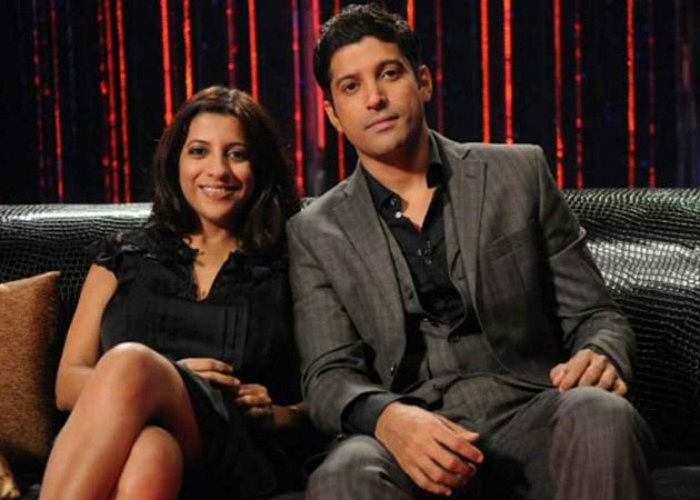 zoya akhtar and farhan akhtar are all smiles for the shutterbugs