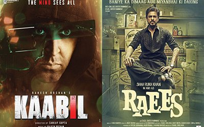 poster of kaabil and raees
