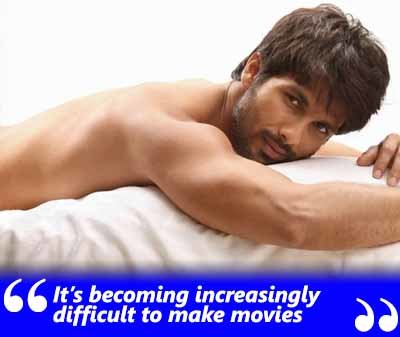shahid kapoor exclusive interview quote on doing films