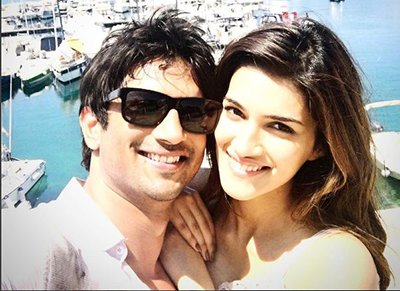 sushant singh rajput and kriti sanon in budapest shooting for raabta