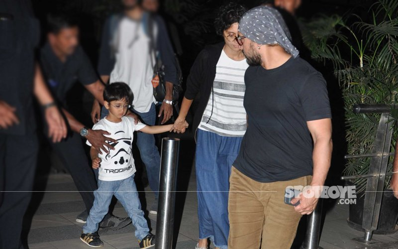 CUTENESS OVERLOAD: Aamir Khan Keeps An Eye On Son Azad At The Mumbai Airport