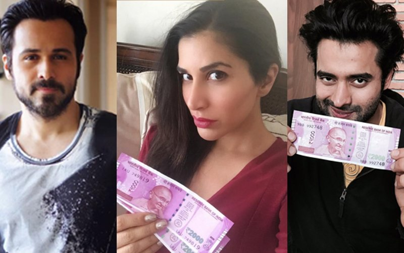 Flaunting Their Cash: Emraan Hashmi, Jackky Bhagnani And Sooraj Pancholi Show Off The New 2000 Note