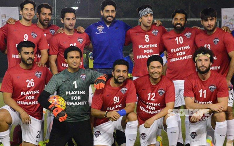 Ranbir Kapoor, Abhishek Bachchan, Arjun Kapoor, Dino Morea 'Play For Humanity'