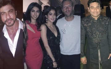 Shah Rukh Khan, AR Rahman And The Star Kids Party With Coldplay's Frontman Chris Martin