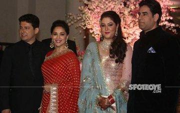 Madhuri Dixit Attends Her Ex-Manager Rakeshnath's Daughter's Wedding Reception