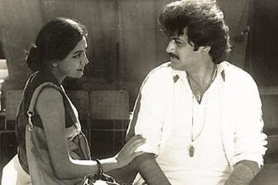 Raj Kiran And Simi Garewal In The Movie Arth