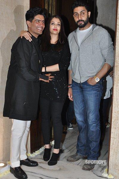 Manish Malhotra with Abhishekh and Ash
