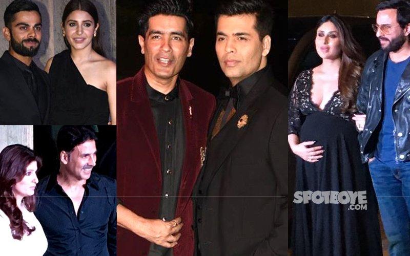 Manish Malhotra brings in his 50th Birthday With KJo, Abhi-Ash, Akki-Twinkle, Virat-Anushka, Saifeena...