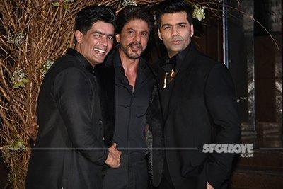 manish malhotra srk karan johar at the party